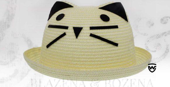Bílý dámský klobouk s fousky