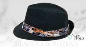 Straw - černý slaměný klobouk