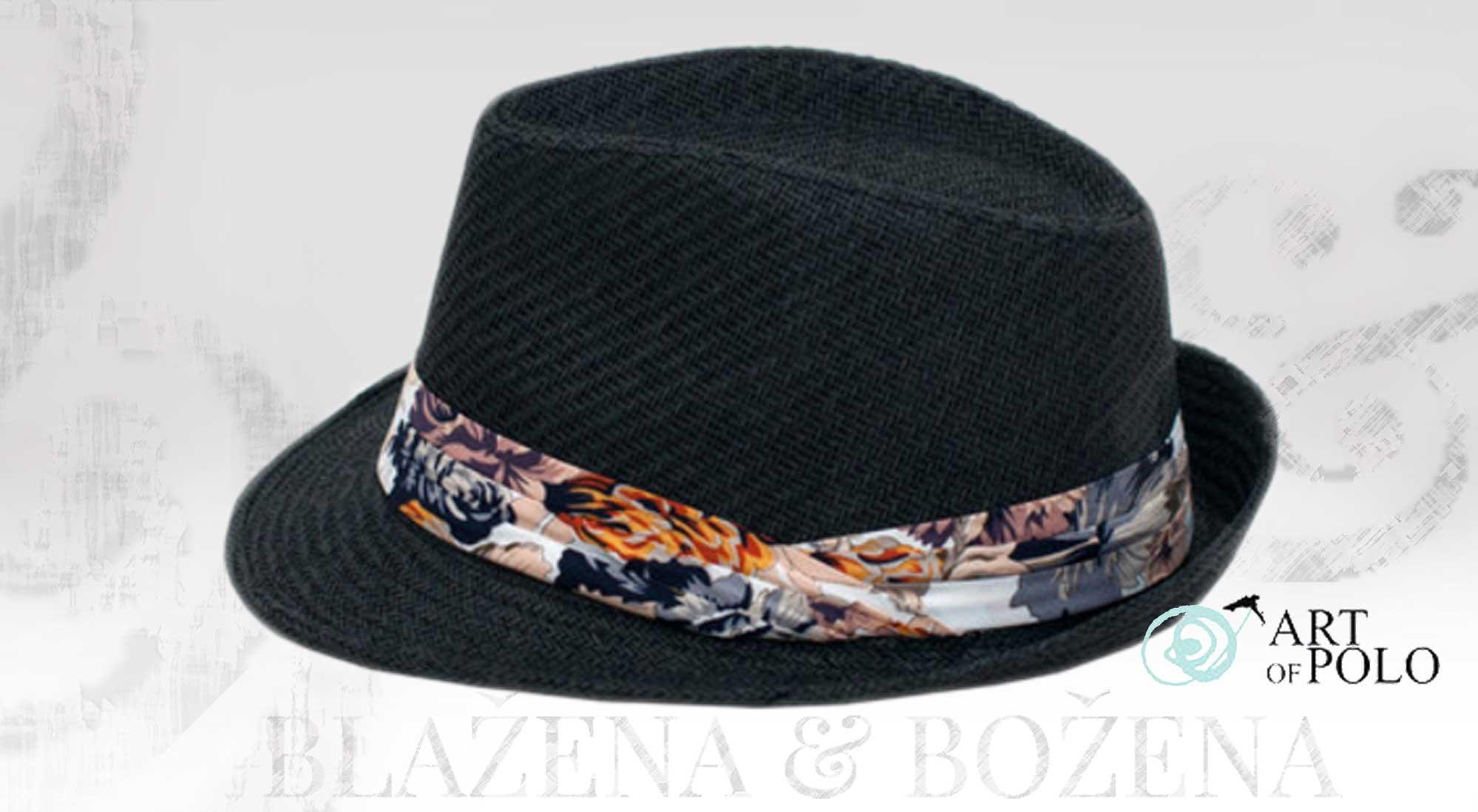 Blažena Božena. královny klobouků. Straw - černý slaměný klobouk 3b3e759edc