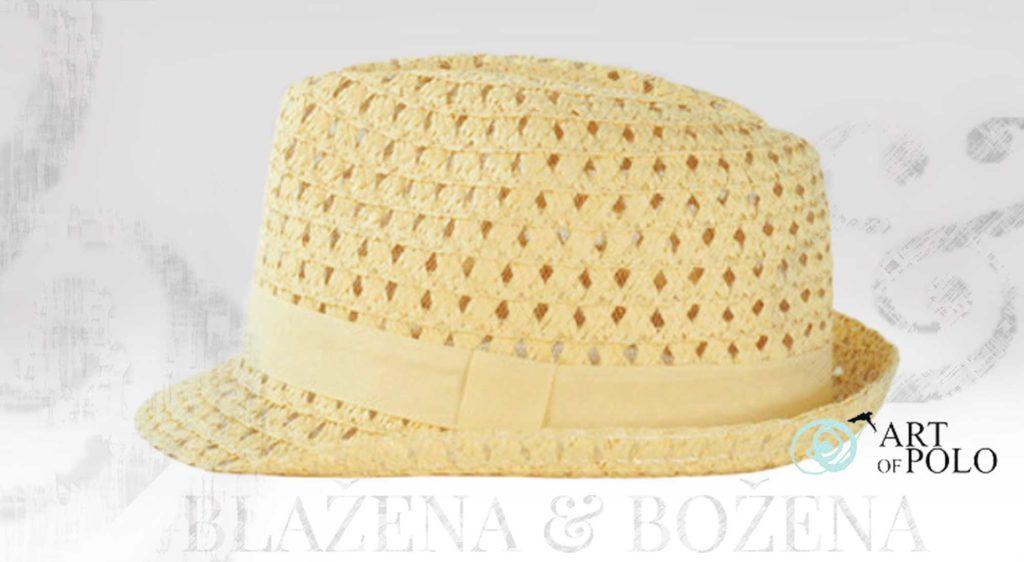 Světlý slaměný klobouk Valencia