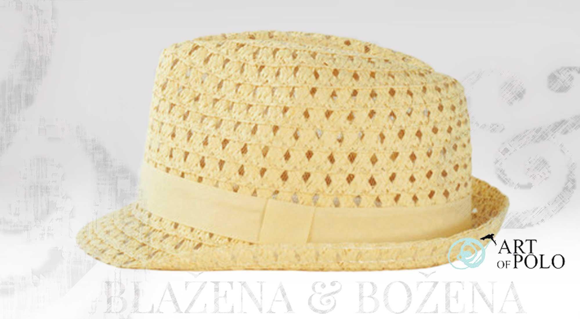 a8457f3165b Blažena Božena. královny klobouků. Světlý slaměný klobouk Valencia