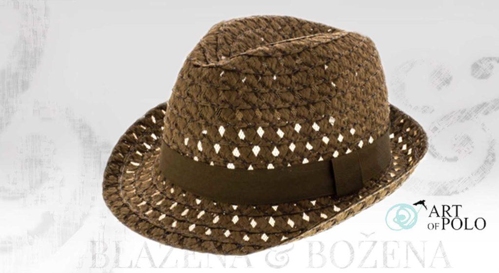 Tmavý slaměný klobouk Valencia