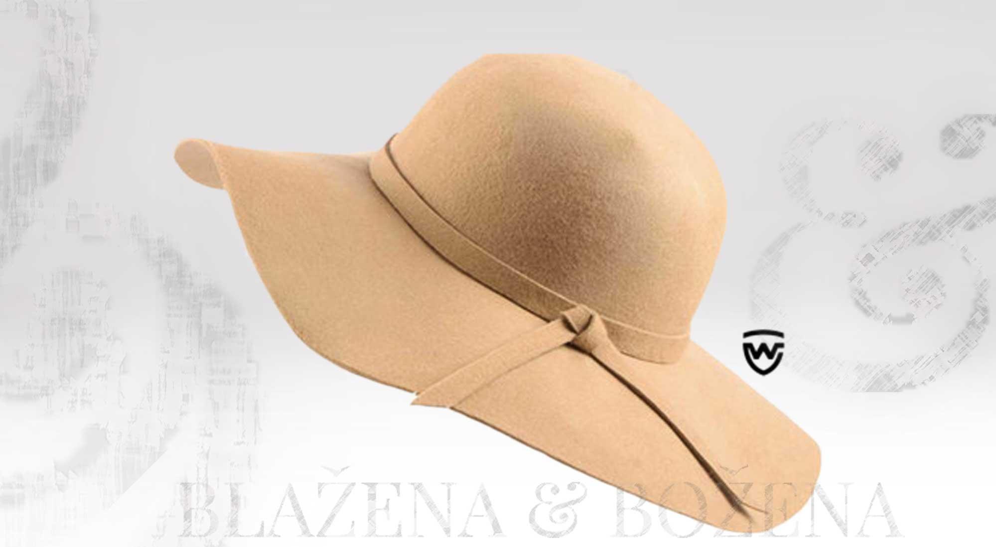 Blažena Božena. královny klobouků. Wayfarer West - béžový dámský klobouk 1f1720be4d