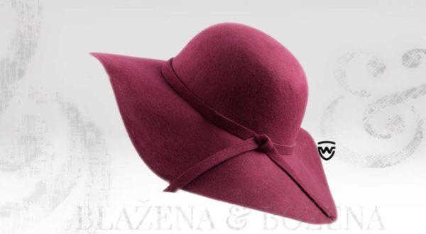 Wayfarer West - bordó dámský klobouk
