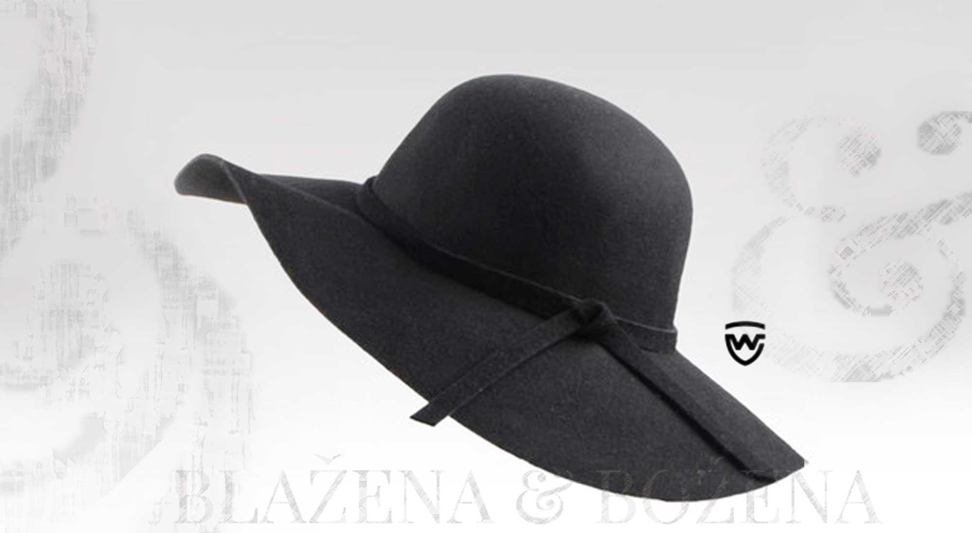 cad393b86fe Blažena Božena. královny klobouků. Wayfarer West - černý dámský klobouk