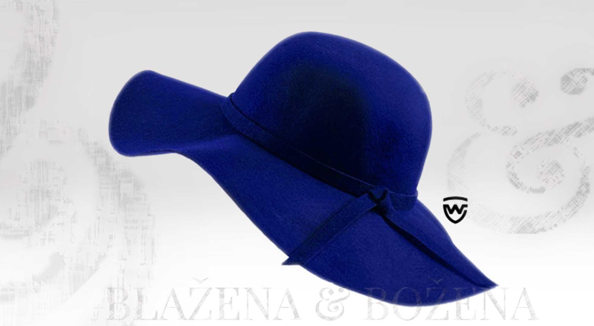 Blažena Božena. královny klobouků. Wayfarer West - modrý dámský klobouk 266b7e6df6