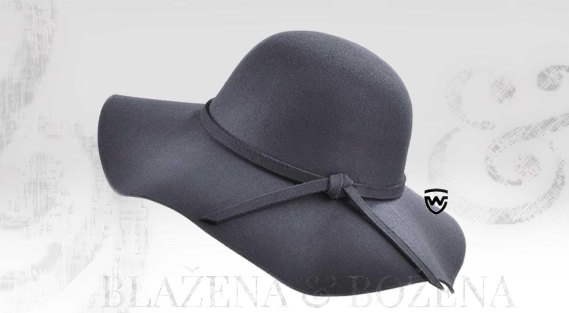 2ad91c1522c Wayfarer West šedý klobouk – Blažena Božena