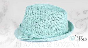 Letní klobouk tyrkys