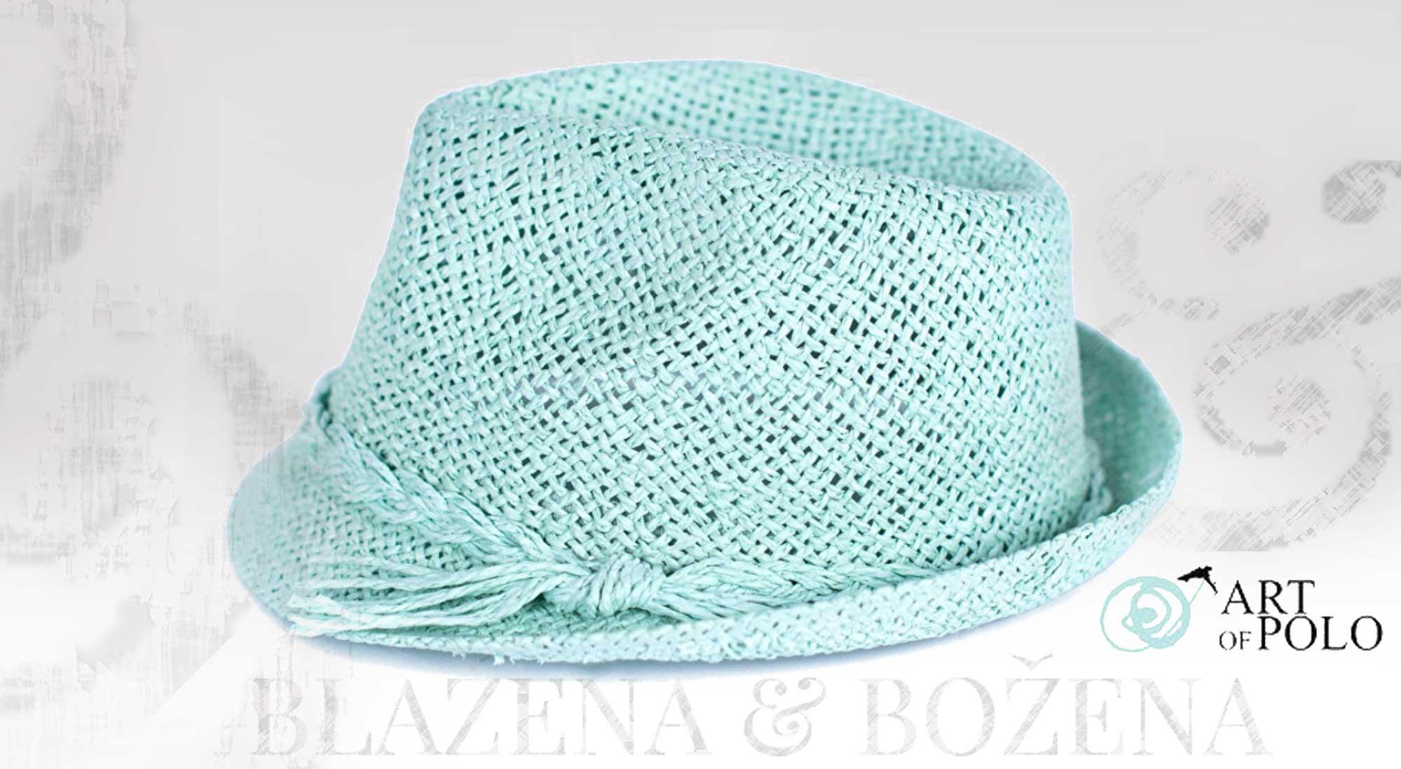 Blažena Božena. královny klobouků. Letní klobouk tyrkys 2eb6f96223