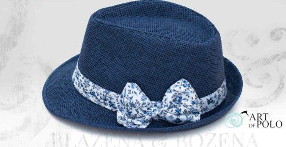 Modrý klobouk s mašlí Nice