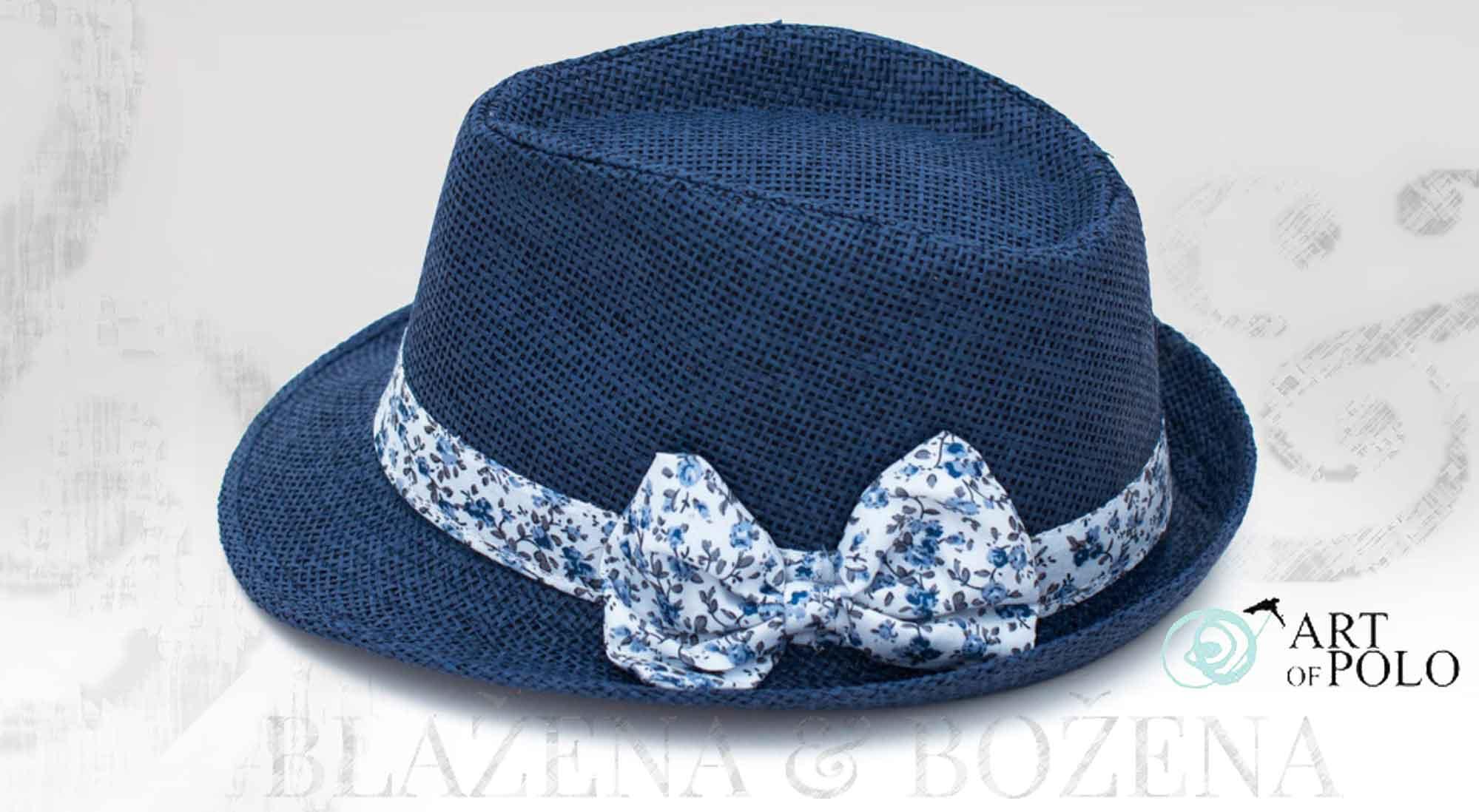 Blažena Božena. královny klobouků. Klobouk s mašlí Blue Nice 27f723986c