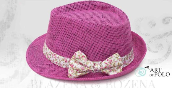 Fuchsiový klobouk s mašlí Nice