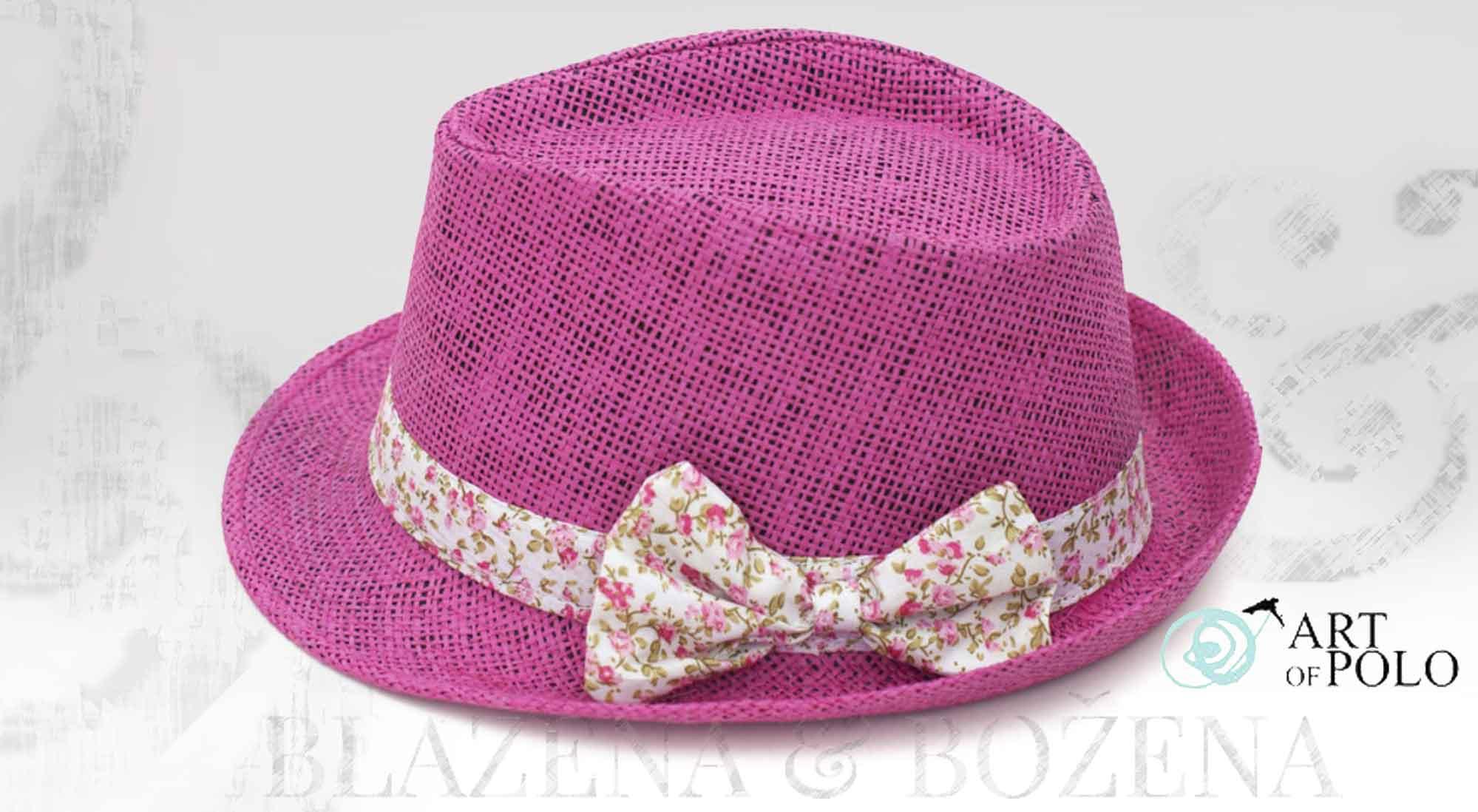 Blažena Božena. královny klobouků. Klobouk s mašlí Pink Nice 74fc198d60
