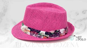 Růžový klobouk Pink Bloom