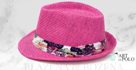 Růžový slamák Pink Bloom