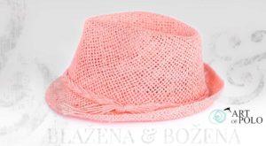 Růžový klobouk Easy