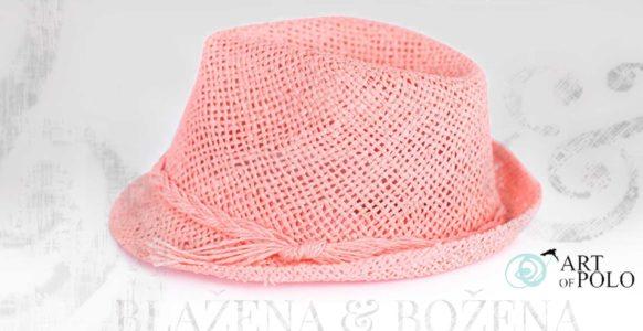 Letní růžový klobouk Easy