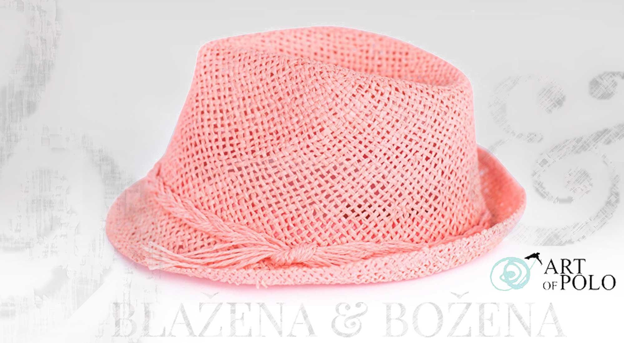 e1f5cb37fa5 Letní růžový klobouk Easy – Blažena Božena