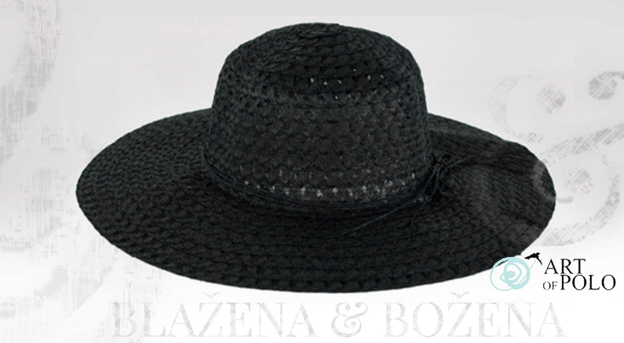 cddd054ba28 Dámský letní klobouk Almeria v černé – Blažena Božena