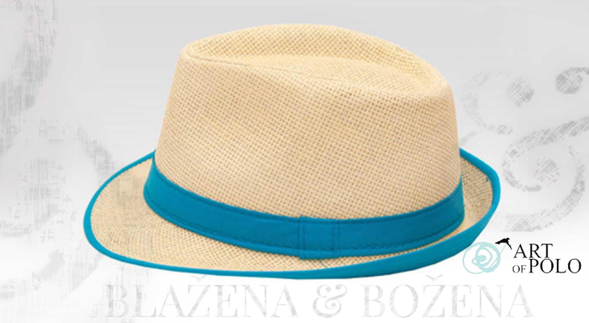 Blažena Božena. královny klobouků. Slamák Beam v modré provedení 13682551f2
