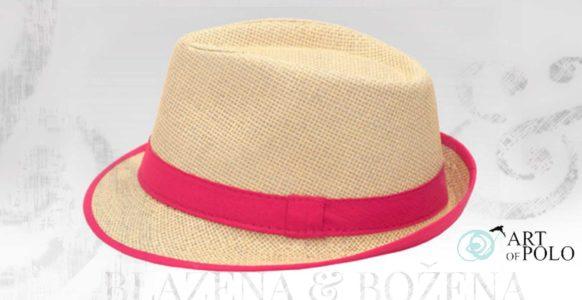 Beam – růžový slaměný klobouk