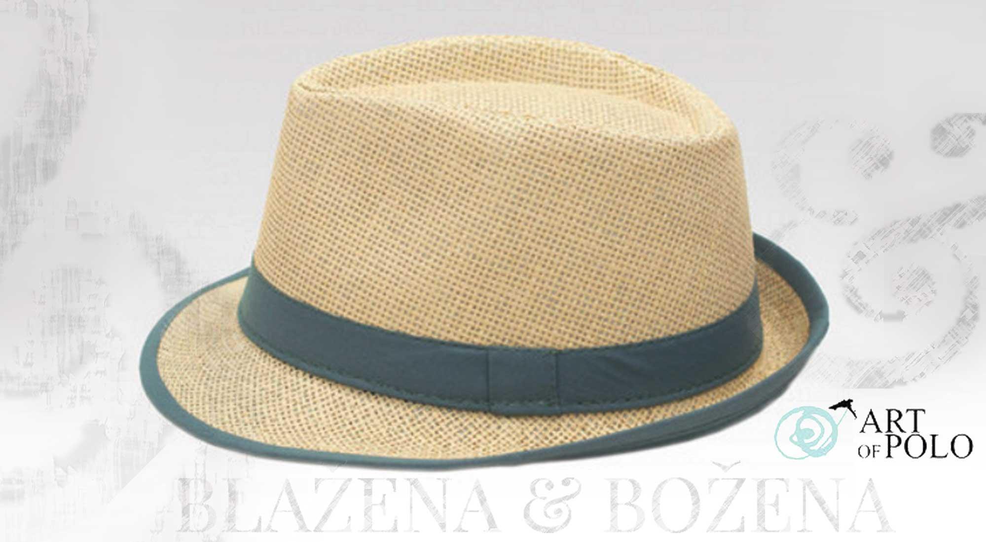 036334b1026 Beam – šedý slaměný klobouk – Blažena Božena