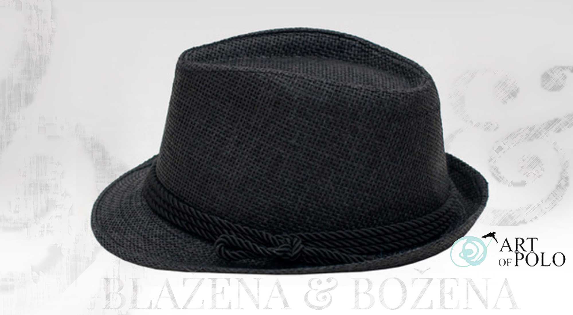 67077fbd9e1 Getafe – černý plážový klobouk – Blažena Božena