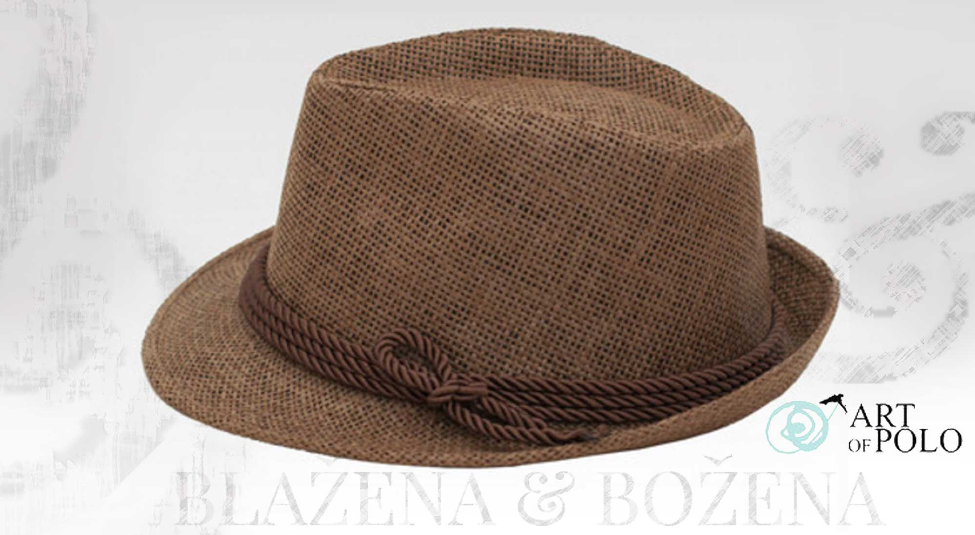 Getafe – hnědý plážový klobouk – Blažena Božena 572a0ed556