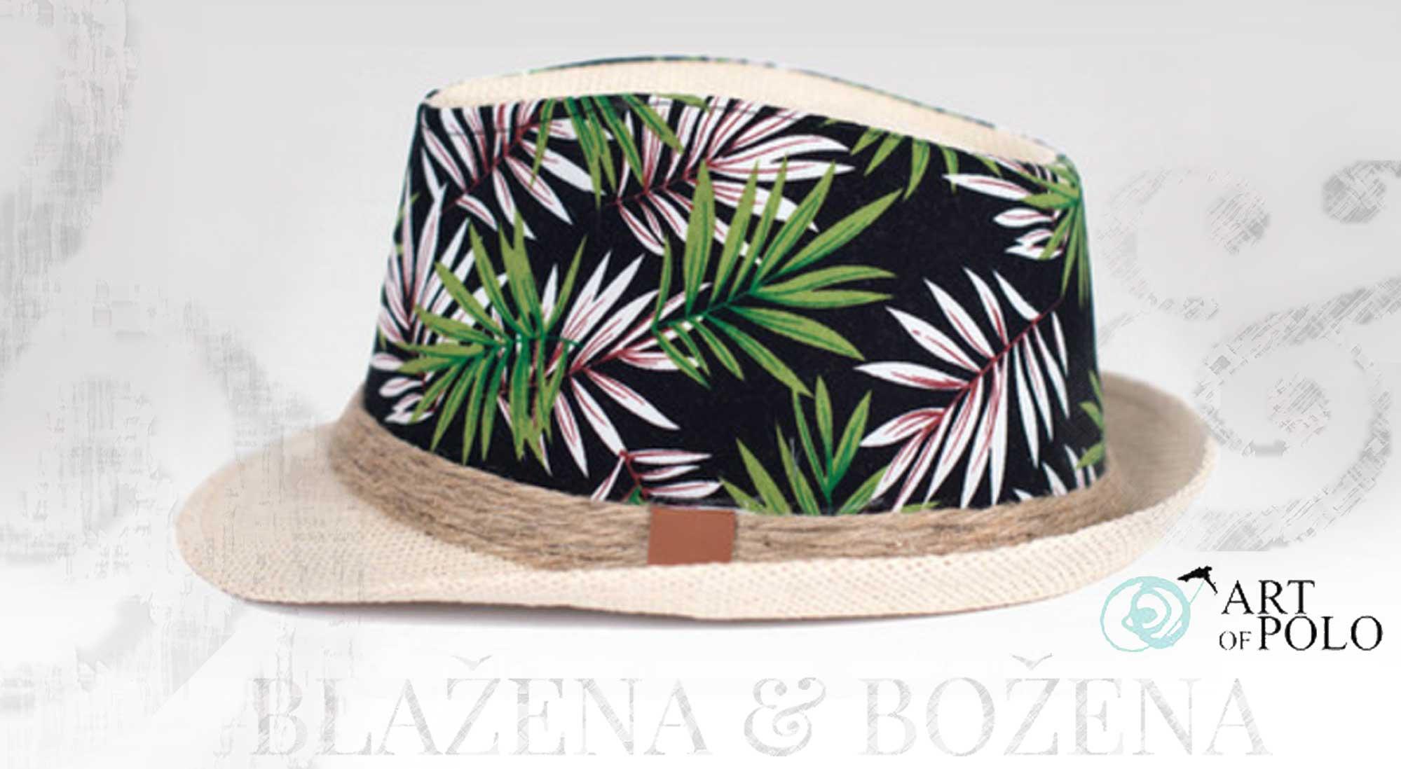 Grenada – slaměný klobouk se vzorem – Blažena Božena 5163cc64f4