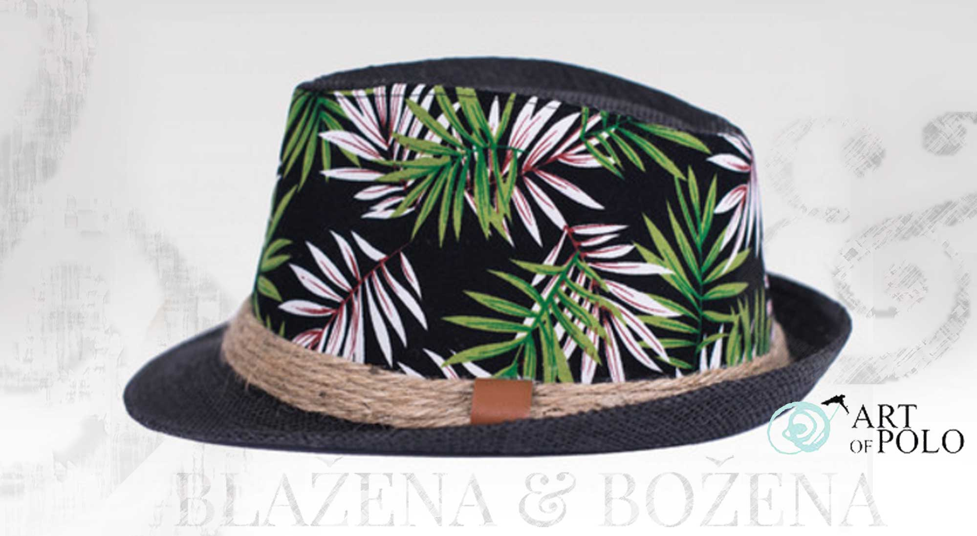 Grenada – černý klobouk se vzorem – Blažena Božena 2101f5e31e