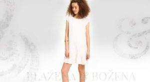 Bílé šaty s volánkem