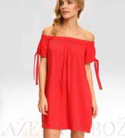 Dámské šaty odhalující ramena červené