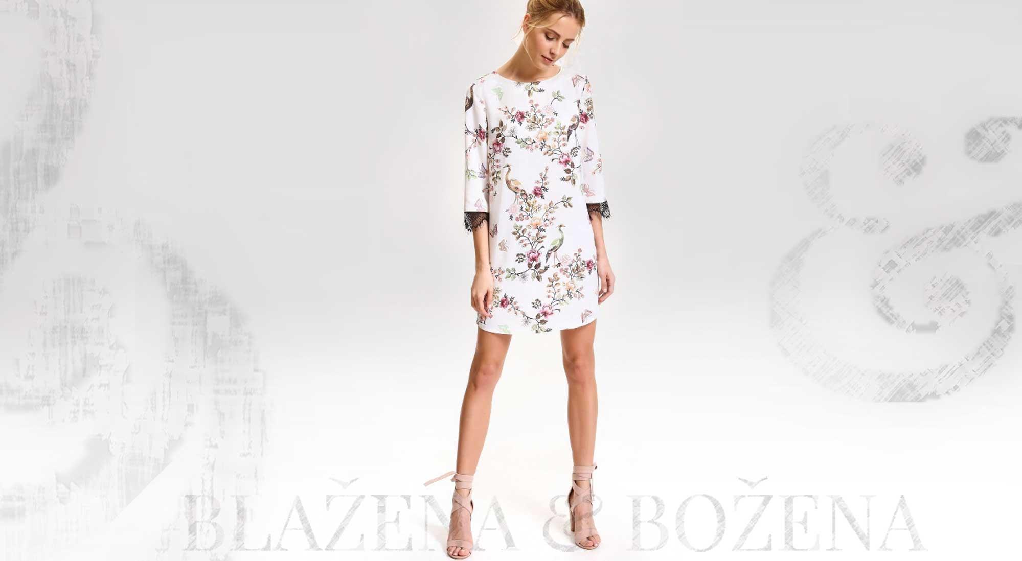 670ae620216 Dámské šaty s květinovým potiskem – Blažena Božena