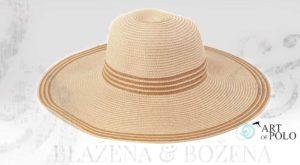 Letní klobouk s proužky, světlý