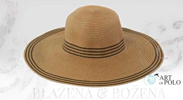 Letní klobouk s proužky, tmavý