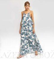 Vzorované letní šaty v modré
