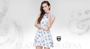 b6afa26bf25 Pohodlné šaty s výšivkou šedomodré – Blažena Božena