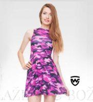 Wayfarer růžové mini šaty Mooro