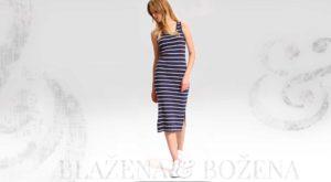 Pruhované šaty modro-bílé