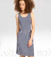 Šaty s proužky cik-cak