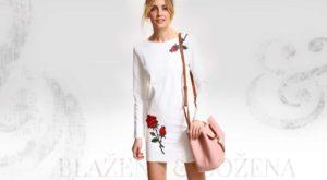 Bílé šaty s výšivkou