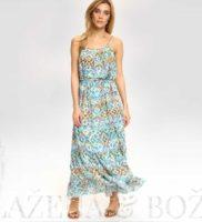 Vzorované letní šaty s tyrkysem