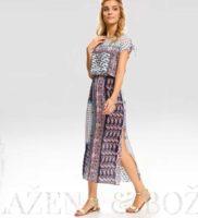 Vzorované dlouhé letní šaty