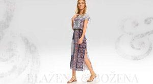 Vzorované letní šaty