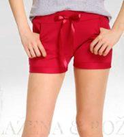 Červené dívčí šortky s mašlí