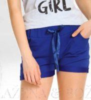 Modré dívčí šortky s mašlí