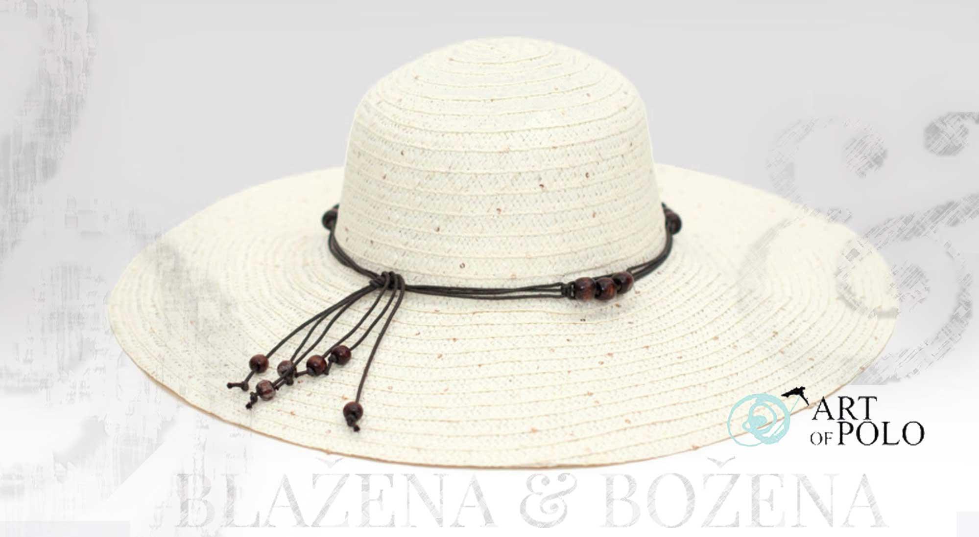 Letní klobouk s korálky bílý – Blažena Božena 28f3ec4085
