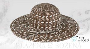 Hnědý letní klobouk Fabulous