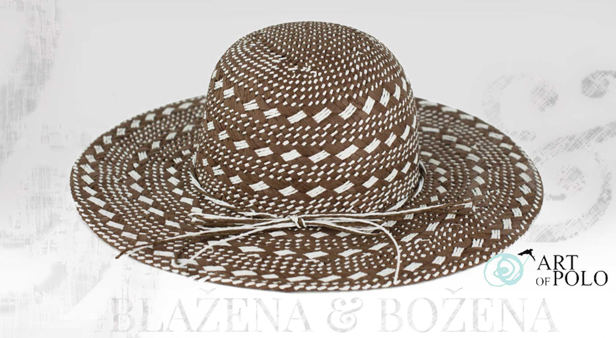 Blažena Božena. královny klobouků. Hnědý letní klobouk Fabulous 459bd7a6ce