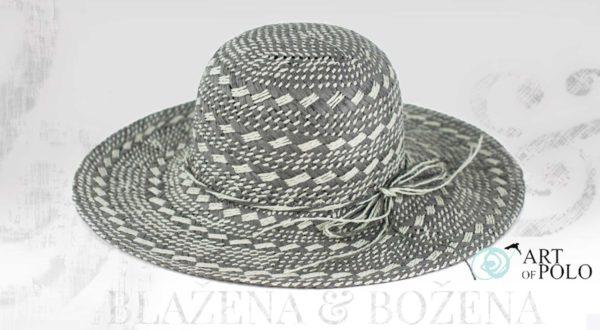 Šedý letní klobouk Fabulous
